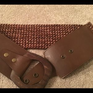 Accessories - VTG BOHEMIAN BROWN WOODEN STRETCH BELT - SMALL